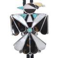 Vintage Inlaid Zuni Peyote Bird Bolo Tie 33585
