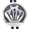 Vintage Hopi Overlaid Silver Bolo Tie 33587