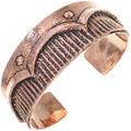 Old Pawn Style Copper Cuff Navajo Heavy Gauge Bracelet 33600