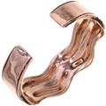 Copper Cuff Curved Edge Bracelet 33601