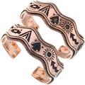 Navajo Storyteller Overlaid Copper Bracelet 33601