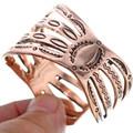 Copper Cuff Hammered Bracelet 33606
