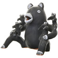 Vintage Storyteller Bear Pottery Art 33673