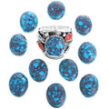 Spiderweb Turquoise Native American Ring 33691