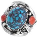 Navajo Spiderweb Turquoise Ring 33691