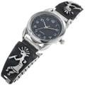 Sterling Silver Kokopelli Watch 33692