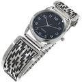 Navajo Overlaid Sterling Silver Mens Watch 33693