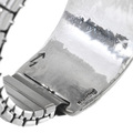 Navajo Rug Pattern Silver Overlay Watch 33693