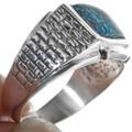 Sterling Silver Adobe Brick Pattern Ring 33837