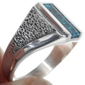 Silver Turquoise Men's Ring 33838