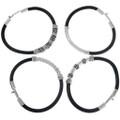 Unisex Silver Leather Bracelets 33857