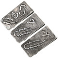 Hand Made Silver Feather Design Money Clips 33891