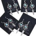 Sterling Silver Dreamcatcher Turquoise Earrings 33937