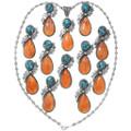 Spiny Oyster Turquoise Native American Pendant 27313