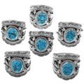 Southwestern Turquoise Silver Big Boy Ring 33981