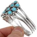 Navajo Turquoise Cluster Bracelet 34009