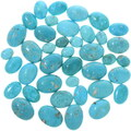 Sonora Turquoise Cabochons Cut from Turquoise Rough 33440