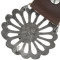 Navajo Sand Cast Silver Old Pawn Concho Belt 34043