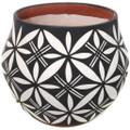 Acoma Black White Pueblo Olla Pottery 34044