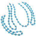 Round Turquoise Magnesite Bead Necklace 34058
