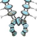 Royston Turquoise Squash Blossom Necklace 34092