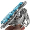Vintage Large Navajo Turquoise Nugget Cuff Bracelet 34126