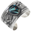 Turquoise Inlay Opal Navajo Design Storyteller Bracelet 34129