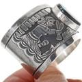 Vintage Sterling Silver Overlay Cuff Bracelet 34129