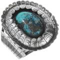 Vintage Nevada Turquoise Silver Cuff Bracelet 34132
