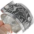 Overlay Kachina Hand Cut Design Shell Inlay Bracelet 34148