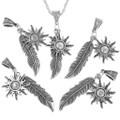 Silver Southwest Feather Pendant 34172