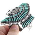 Zuni Turquoise Needlepoint Watch Cuff 34232