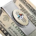 Turquoise Shell Zuni Money Clip 34296