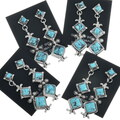 Hand Made Navajo Turquoise Earrings 34308