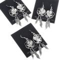 Western Navajo Eagle Dangle Earrings 34316