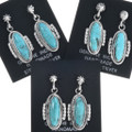 Native American Sterling Turquoise Earrings 34338