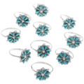 Turquoise Flower Native American Rings 34355