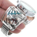 Native American Turquoise Inlay Watch 34476