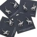 Western Silver Wolf Earrings 34480