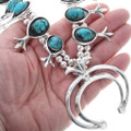 Sterling Silver Naja Turquoise Squash Blossoms 29960