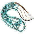 Green Blue Turquoise Beaded Heishi Shell Necklace 34507