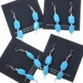 French Hook Western Turquoise Dangle Earrings 34561