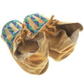 Authentic Native American Beaded Leather Moccasins 34576