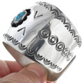 Authentic Bisbee Turquoise Sterling Silver Cuff 34582