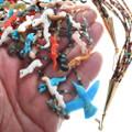 Original Zuni Tony Lualla Carved Fetish Necklace 34621