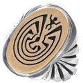 Man in the Maze Silver Gold Mens Ring 34636