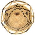 Unique Papago Basket Handwoven Natural Materials 34648