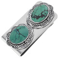 Navajo Green Turquoise Silver Money Clip 34818