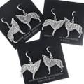 Silver Wolf French Hook Dangle Earrings 34823