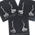 Silver French Hook Bronco Rider Horse Earrings 34824